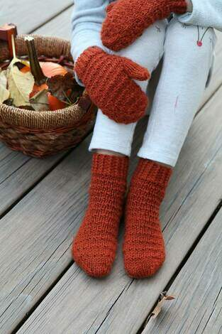 cosy knitted socks
