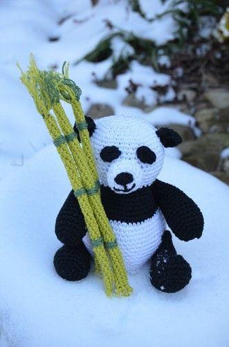 Makerist - Mini-Panda mit Bambus - Häkelprojekte - 1