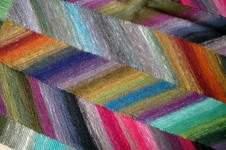 Makerist - Kniedecke auch aus japanischer Sockenwolle mit Farbverlauf - 1