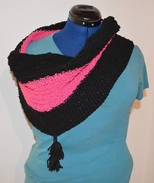 Makerist - Loop in pink und schwarz - 1