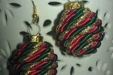 Makerist - cocos weihnachtskugel ohrringe - 1