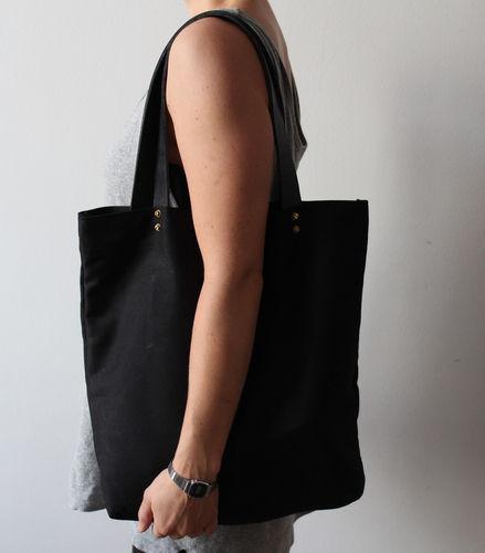Makerist - Shopper black/leather - Nähprojekte - 1