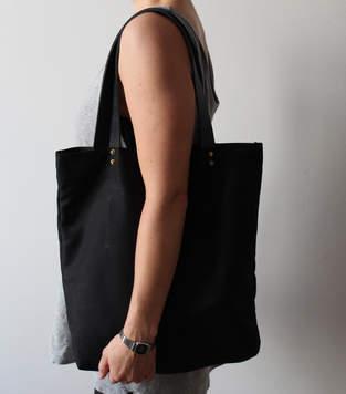 Makerist - Shopper black/leather - 1