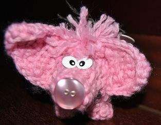 Glückshäkelschutzengelschweinchen Angelo