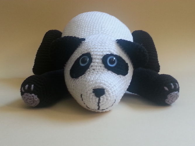 Makerist - Panda Patrick - Häkelprojekte - 1