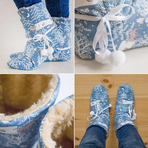 Makerist - Hausschuhe Gunilla aus Baumwollstoffen - Nähprojekte - 1