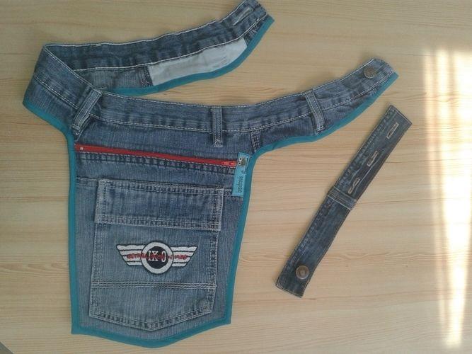 Makerist - Hüfttasche aus alter Jeans mit Erweiterungsmöglichkeit  - Nähprojekte - 1