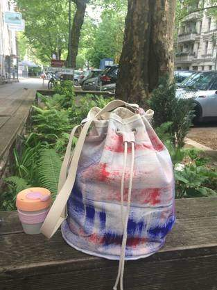 Makerist - Brushstrokes Canvas Tote bag - 1