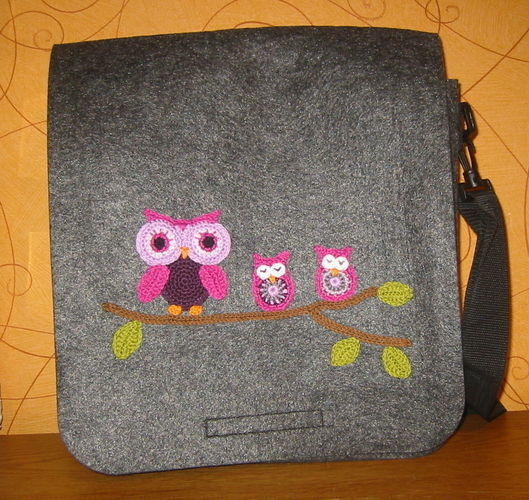 Makerist - Tasche mit Eulen - Häkelprojekte - 1