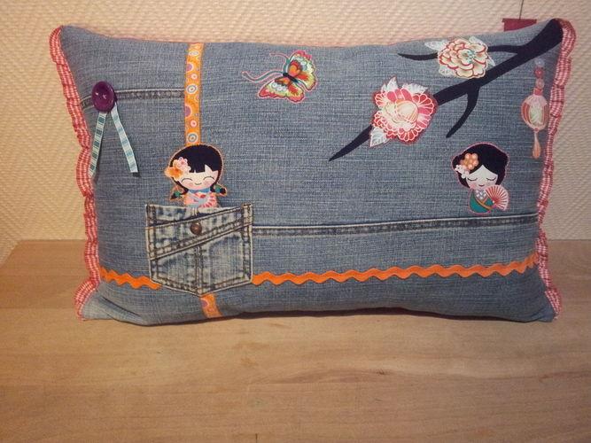 Makerist - Kissen - Jeans recycelt - Nähprojekte - 1