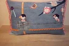 Makerist - Kissen - Jeans recycelt - 1