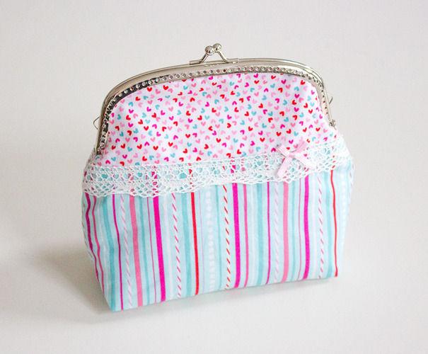 Makerist - Clipbörse: Kleine Handtasche / Kosmetiktasche - Nähprojekte - 1