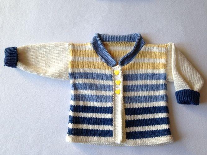 Makerist - Babyjäckchen mit passender Mütze für kleine Jungs in Gr. 50/56 - Strickprojekte - 3
