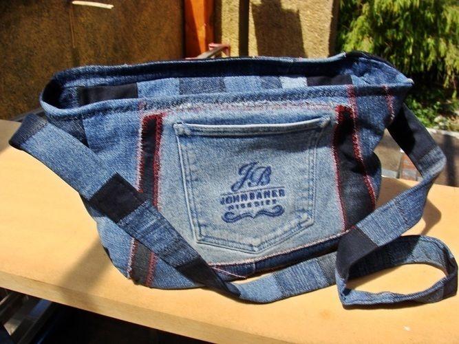 Makerist - Handtasche aus crazy Jeans Patchwork - Patchwork-Projekte - 1