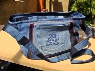 Handtasche aus crazy Jeans Patchwork