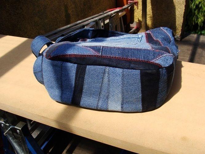 Makerist - Handtasche aus crazy Jeans Patchwork - Patchwork-Projekte - 2