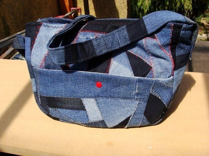 Makerist - Handtasche aus crazy Jeans Patchwork - Patchwork-Projekte - 3