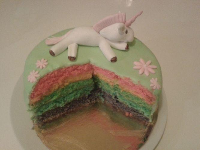 Makerist - Einhorn Regenbogen Torte - Torten, Cake Pops und Cupcakes - 2