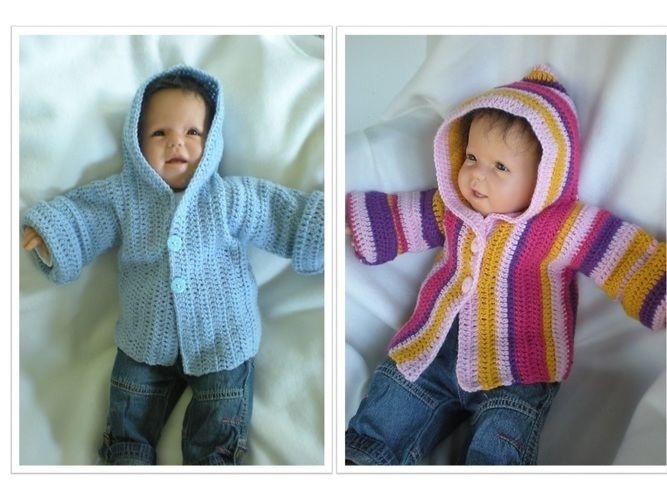 Makerist - Babyjacke mit Kapuze - Häkelprojekte - 1
