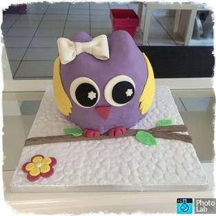 3D Eulen Fondant Torte