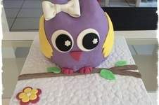Makerist - 3D Eulen Fondant Torte - 1