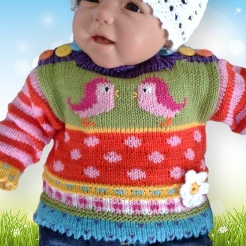 Makerist - Babypulli kunterbunt - Strickprojekte - 1