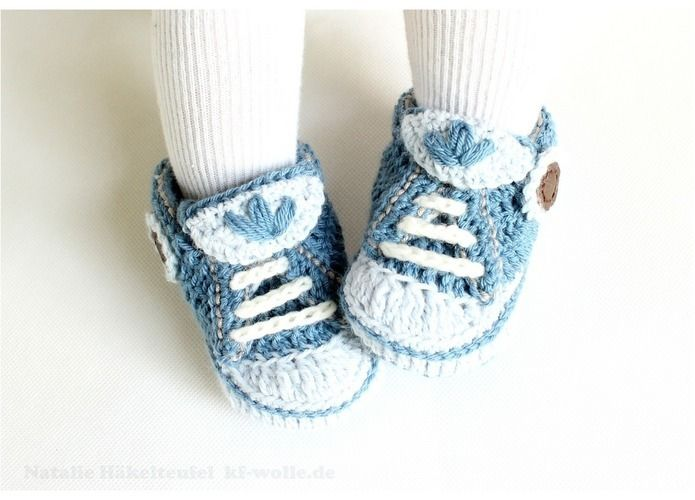 "Makerist - Babyschuhe ""Jeans"" - Häkelprojekte - 1"