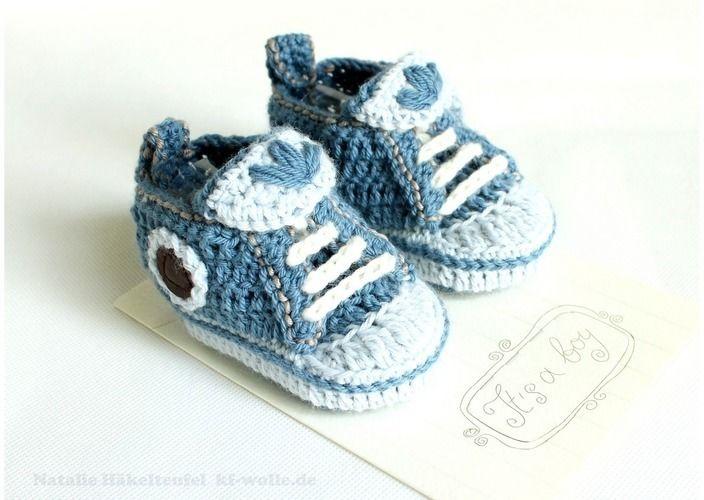 "Makerist - Babyschuhe ""Jeans"" - Häkelprojekte - 3"