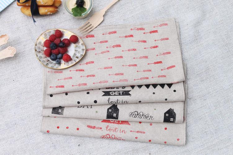 Makerist - Serviette en tissu tamponné - Créations de couture - 1