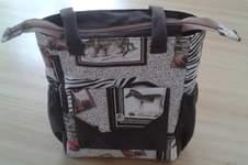 Makerist - Bia Bag aus festem Baumwollstoff und Stoff in Wildlederoptik gemacht für meine Mutter - 1