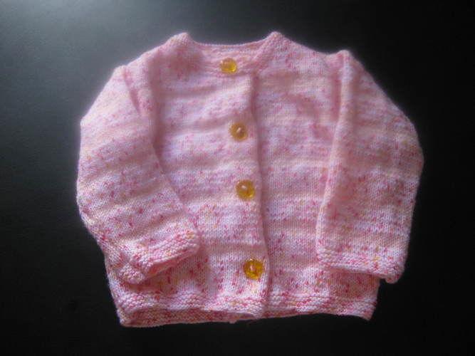 Makerist - cardigan rose pour ma petite fille Cloé - Créations de tricot - 1