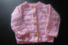 Makerist - cardigan rose pour ma petite fille Cloé - 1