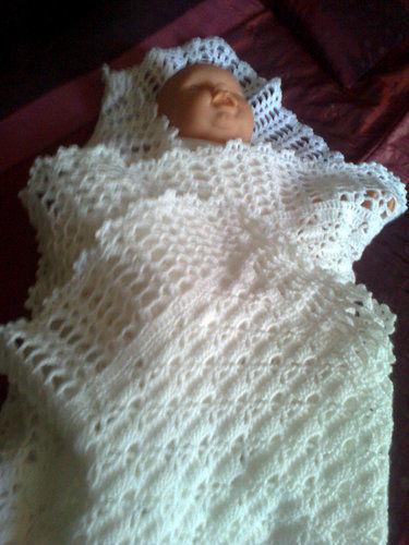 Makerist - couverture/châle pour bébé - Créations de crochet - 1