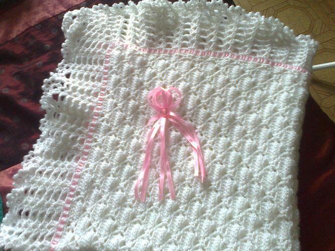 Makerist - couverture/châle pour bébé - Créations de crochet - 2