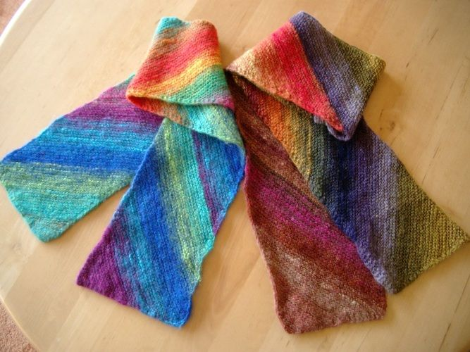 Makerist - kleine Schals aus japanischer Sockenwolle - Strickprojekte - 1