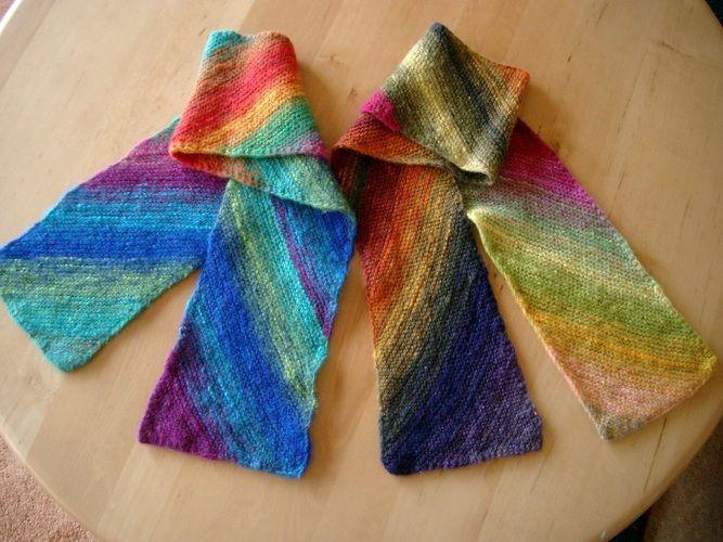 Makerist - kleine Schals aus japanischer Sockenwolle - Strickprojekte - 2