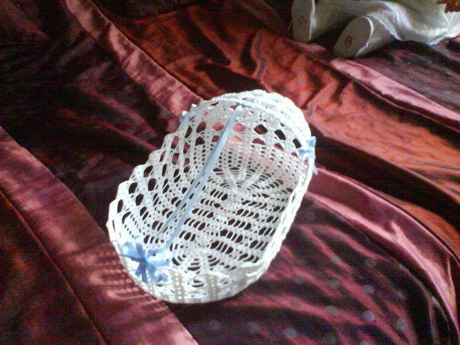Makerist - corbeille/berceau pour dragées de baptême - Créations de crochet - 1
