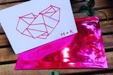 Makerist - Sticken // Hochzeitskarte - 1