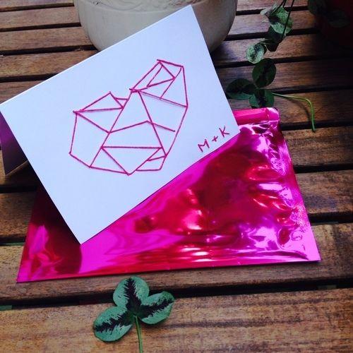 Makerist - Sticken // Hochzeitskarte - DIY-Projekte - 2
