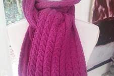Makerist - Echarpe torsadée en laine mérinos - 1