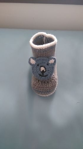 Makerist - Chaussons ourson 0/3mois  - Créations de crochet - 1