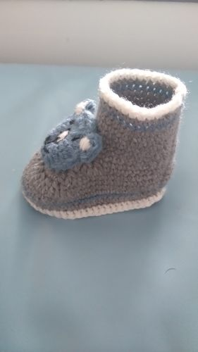 Makerist - Chaussons ourson 0/3mois  - Créations de crochet - 2