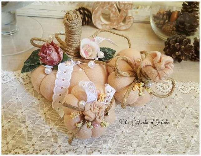 Makerist - Citrouilles décoratives shabby chic. Décoration naturelle . - Créations de couture - 1