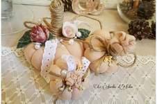 Makerist - Citrouilles décoratives shabby chic. Décoration naturelle . - 1