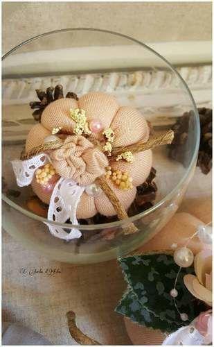 Makerist - Citrouilles décoratives shabby chic. Décoration naturelle . - Créations de couture - 3