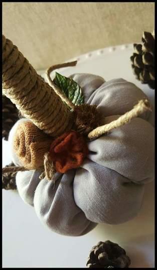 Citrouille décoration d'automne shabby victorien.