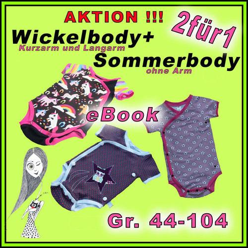 Makerist - Wickelbody ebook Gr. 44-104 + kostenl. Sommerbody - Nähprojekte - 1
