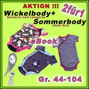 Wickelbody ebook Gr. 44-104 + kostenl. Sommerbody