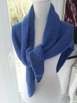 Châle Trendy en baby alpaga tricoté à la main