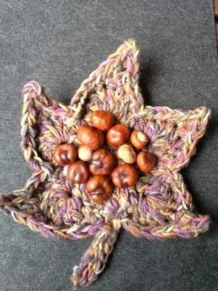 Tisch-Deko Herbstblatt